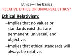 ethics the basics relative ethics or universal ethics14