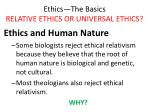 ethics the basics relative ethics or universal ethics19