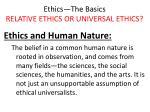 ethics the basics relative ethics or universal ethics20