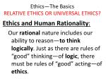 ethics the basics relative ethics or universal ethics22