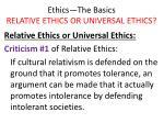 ethics the basics relative ethics or universal ethics25