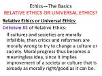 ethics the basics relative ethics or universal ethics26