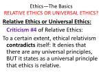 ethics the basics relative ethics or universal ethics28