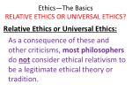 ethics the basics relative ethics or universal ethics29