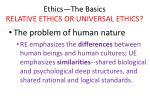 ethics the basics relative ethics or universal ethics31