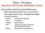 ethics the basics relative ethics or universal ethics4