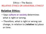 ethics the basics relative ethics or universal ethics7