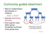 community guided attachment