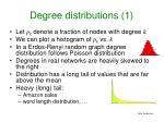 degree distributions 1