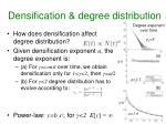 densification degree distribution