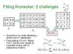 fitting kronecker 2 challenges