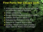 first punic war causes cont