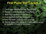 first punic war causes