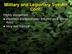 military and legionary system cont