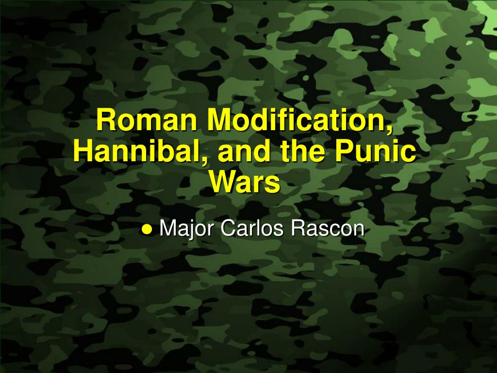roman modification hannibal and the punic wars l.