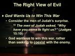 the right view of evil12