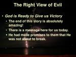 the right view of evil15