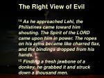 the right view of evil8
