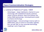 patent commercialisation strategies20