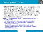 creating new types