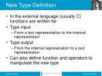 new type definition60