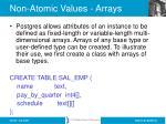 non atomic values arrays