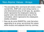 non atomic values arrays44