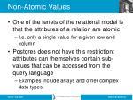non atomic values