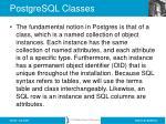 postgresql classes