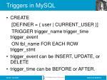 triggers in mysql