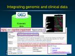 integrating genomic and clinical data29
