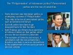 the philippinisation of indonesian politics personalised parties and the rise of celebrities