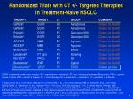 randomized trials with ct targeted therapies in treatment naive nsclc