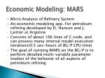 economic modeling mars