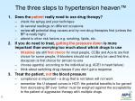 the three steps to hypertension heaven