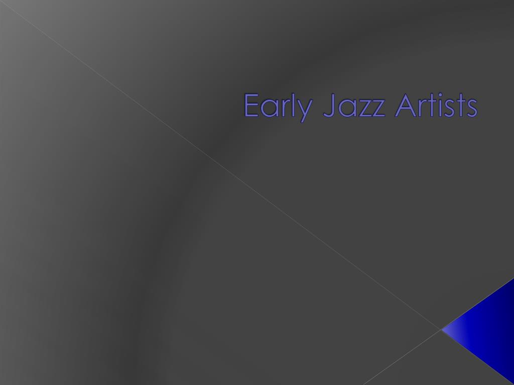 early jazz artists l.