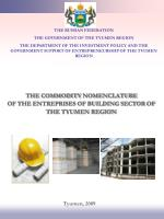 the commodity nomenclature of the entreprises of building sector of the tyumen region