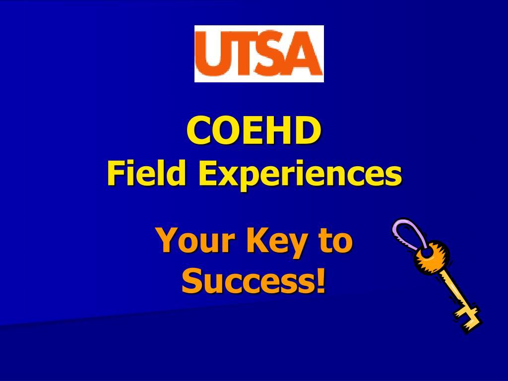 coehd field experiences l.