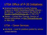 utsa office of p 20 initiatives