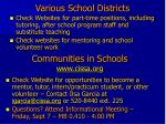 various school districts