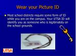 wear your picture id