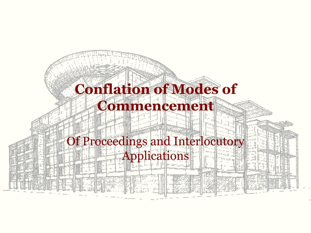 conflation of modes of commencement l.
