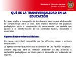 qu es la transversalidad en la educaci n