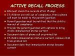 active recall process