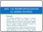 art 140 reimportacion en el mismo estado10
