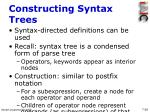 constructing syntax trees