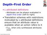 depth first order