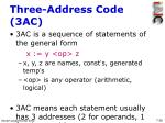 three address code 3ac