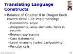 translating language constructs