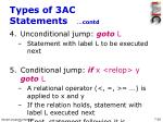 types of 3ac statements contd